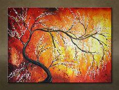 Ručne maľovaný obraz STROM 1 dielny 6115FA
