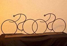 Cyclists - Heise Metal Sculpture (Dan Raymond)