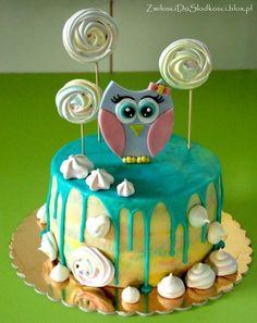 Drip cake - owl :)