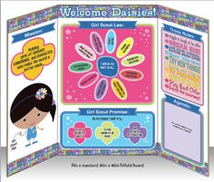 Daisy Girl Scout Meeting Information Display Board  by BellaNoche1