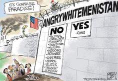 """ANGRYWHITEMENISTAN"" (aka Stupid, Self-Centered, Will Fall of ANYTHING, Idiot Land) Pat Bagley Cartoons - The Salt Lake Tribune"