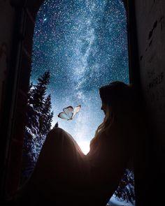 〰️ Infinito particular 〰️. Beautiful Fantasy Art, Beautiful Moon, Moonlight Photography, Nature Photography, Cute Wallpapers, Wallpaper Backgrounds, Night Sky Wallpaper, Beautiful Nature Wallpaper, Digital Art Girl