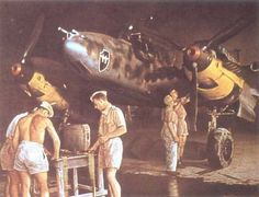 German World War 2 Colour Messerschmidt Bf 110E 1