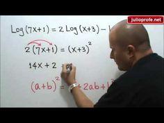 Solución de una ecuación que contiene logaritmos: Julio Rios explica cómo encontrar el conjunto solución de una ecuación que contiene logaritmos.