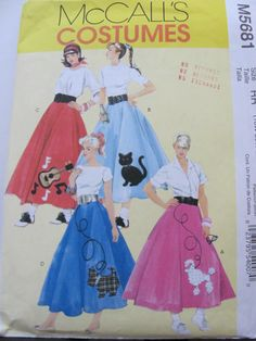 Whole Family Lined Costume Sewing Pattern McCalls 2381 Plus 18 Inch Doll And Dog Pumpkin