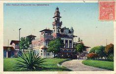 Palácio das Indústrias no parque Dom Pedro II (cartão postal).