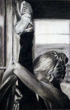charcoal drawing by Brooke Walton