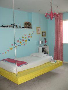 Teen Girls Bedroom Hanging Beds