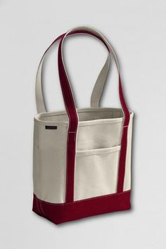 CASUAL TOTE: Lands' End Medium Open Top Long Handle Canvas Tote Bag, $28.50 but in pink. CHECK!
