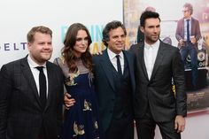 "Keira Knightley Photos Photos - Actors James Corden, Keira Knightley, Mark Ruffalo and Adam Levine attend the ""Begin Again"" premiere at SVA Theater on June 25, 2014 in New York City. - 'Begin Again' Premieres in NYC — Part 3"
