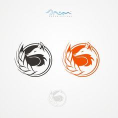 Negative Space Fox Logo for Natural Food Brand by Dream designs