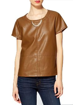 Spring Trends 2013: Leather; Tinley Road tee ($69).