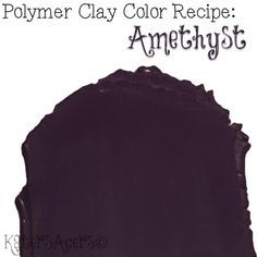 Amethyst Color Recipe for Premo Polymer Clay by Katie Oskin | CLICK for full Fall Color Palette Information