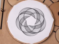 Crank Out Infinite Geometric Designs With The Wooden Cycloid Drawing Machine | Colossal