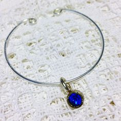 Blue Crystal of Life Bangle Bracelet Inspired by the Legend of Grimlock