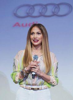 Jennifer Lopez at the opening of the Audi Dubai Showroom