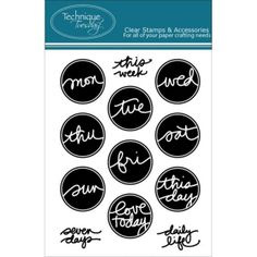"""Technique Tuesday - Clear Stamps 3""""X4"""" - Days Flair By Ali Edwards"""