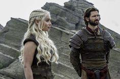Emilia Clarke as Daenerys Targaryen and Michiel Huisman as Daario Naharis. Credit: Macall B. Polay/HBO #season6