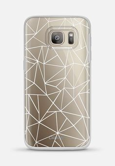Abstraction Outline White Transparent Galaxy S7 case by Project M | Casetify