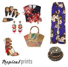 """Tropical"" by punkie707 ❤ liked on Polyvore featuring Dolce&Gabbana, Clover Canyon, Tory Burch, Ranjana Khan, Schutz, tropicalprints and hottropics"