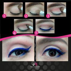 5 pasos para realizar un lindo maquillaje con delineador azul. Haz la prueba
