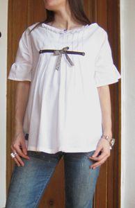 Tunique inspirée du modèle A du Otona Stylish Dress Book 2 (livre 175 sur JCA), Grains de Maïs
