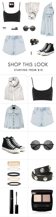 """She Didn't Know"" by belenloperfido ❤ liked on Polyvore featuring Alexander Wang, Topshop, Converse, Accessorize, Versace and Avon"