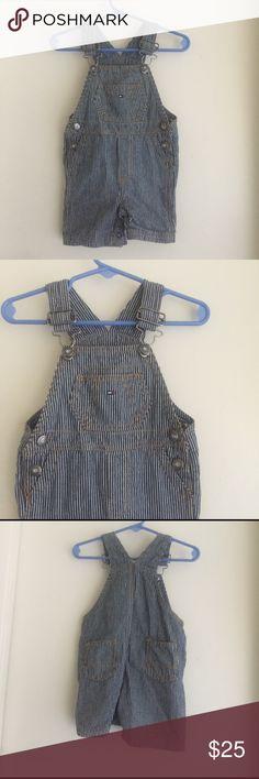 Tommy Hilfiger overalls short  #AlexClothes👶🏻🍼 Tommy Hilfiger overalls shorts size 12M stripes blue and white #AlexClothes 👶🏻🍼❤️ Tommy Hilfiger Bottoms Overalls