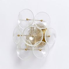Glass Disc Sconce #westelm