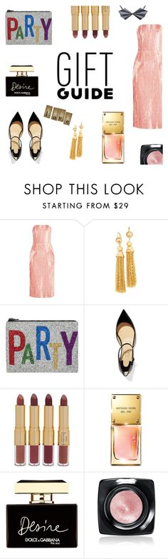 """Gift Guide: Besties"" by alinepinkskirt ❤ liked on Polyvore featuring Topshop Unique, Kenneth Jay Lane, I Know The Queen, Christian Louboutin, tarte, Michael Kors, Dolce&Gabbana, Bobbi Brown Cosmetics and Alice Barnes"