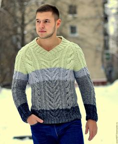 """Knitted sweater   Купить свитер """"Леон"""" - свитер, свитер вязаный, свитер мужской, свитер ручной работы"""