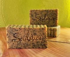 Soulstice Soaps - Playful Poppy Exfoliating Bar Soap, $6.00 (http://www.soulsticesoaps.com/products/playful-poppy-exfoliating-bar-soap.html)