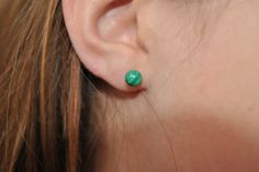 A personal favorite from my Etsy shop https://www.etsy.com/listing/233817446/malachite-earrings