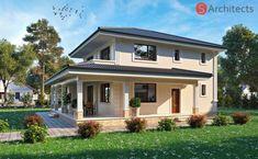 """""""Лаванда"""" – елегантен проект на къща на два етажа - Списание """"още за КЪЩАТА"""" - Строителство, Архитектура, Проектиране Home Projects, Home Crafts, Mediterranean House Plans, Garden Design, House Design, Design Case, Cool Designs, New Homes, Farmhouse"""