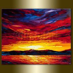 Sunrise over the Sea Seascape Painting