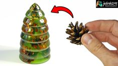 How to make a Christmas tree from cone and epoxy resin Resin Crafts, Resin Art, Pine Cones, Epoxy, Christmas Tree, Tube Video, How To Make, Youtube, Ideas