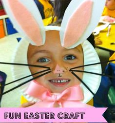Bunny Face Mask for a #PreSchool #Easter Craft.