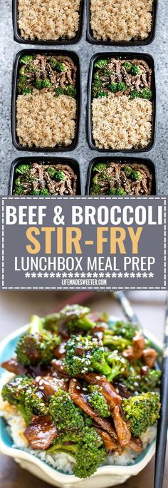 This Skinny Beef and Broccoli Stir-Fry makes the perfect easy weeknight dish full of authentic flavors. Best of all, it's so easy to make with authentic flavors and way better than your favorite Chinese takeout restaurant. Great for meal prep Sunday and leftovers can be used for work or school lunch bowls!