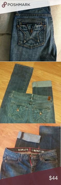 "Final Sale People's Liberation Tanya Straight Jean Can be cuffed to fit any length Inseam 34"". Excellent condition. People's Generation  Jeans Straight Leg"