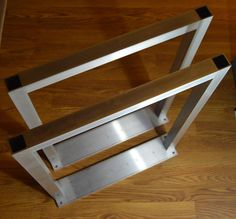 The BEST Metal Table Legs 1.5 Square SET of 2 Frame