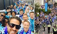 CHELSEA title parade: John Terry, Didier Drogba and Co. celebrate the club's fourth Premier League title with the fans as they take to the streets of London...