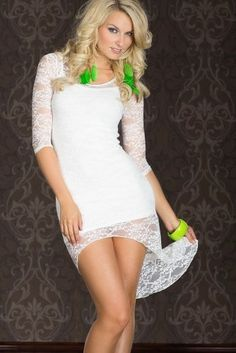 The Dream Lace Tuxedo Sexy Fake Two Short-sleeved Prom Dress White by Lover-Beauty, http://www.amazon.com/dp/B00AJB4OZM/ref=cm_sw_r_pi_dp_QYlFrb1JRCZY0