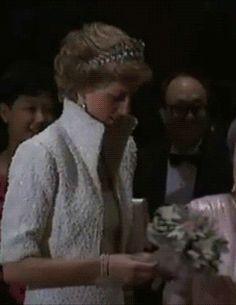 Princess Diana in Hong Kong, November 1989.