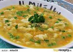 Czech Recipes, Ethnic Recipes, Detox Soup, Soups And Stews, Bon Appetit, Cheeseburger Chowder, Risotto, Food And Drink, Menu