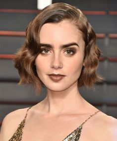 Lily Collins Beauty Red Carpet