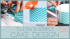 Clean & Simple Cake Design, A Craftsy Online Cake Decorating Class: on special $24.00 :: Lc- she created a wax paper transfer technique that's just awesome!