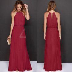 UK Womens Formal Long Chiffon Prom Evening Bridesmaid Wedding Maxi Dress A020   Odzież, Buty i Dodatki, Odzież damska, Sukienki   eBay!