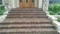 Sealed paver steps