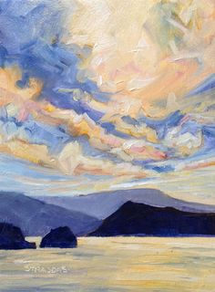 Evening Colour Feast - 2 of 30 30th, In This Moment, Night, Painting, Color, Challenge, Journey, Victoria, Canada