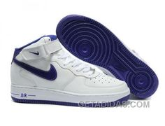 http://www.getadidas.com/nike-air-force-1-mid-white-navy-free-shipping.html NIKE AIR FORCE 1 MID WHITE NAVY FREE SHIPPING Only $54.04 , Free Shipping!